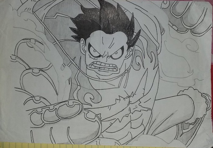 anime character, black and white, pencil sketch, cute anime drawings