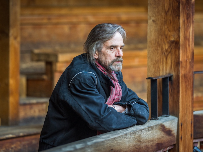 jeremy irons, grey hair, black jacket, red scarf, medium length hairstyles for men