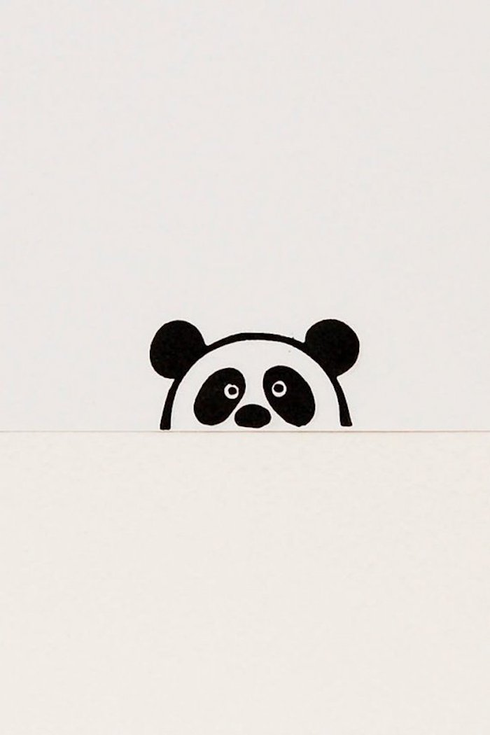 small panda drawing, pictures of drawings, white background