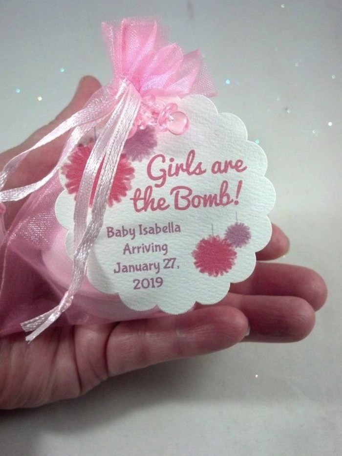 girls are the bomb, bath bomb, party favor, baby shower decorations