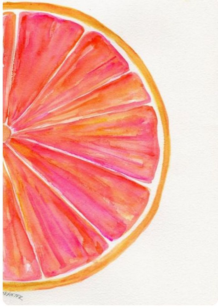 turn photo into line drawing online free, grapefruit slice, white background