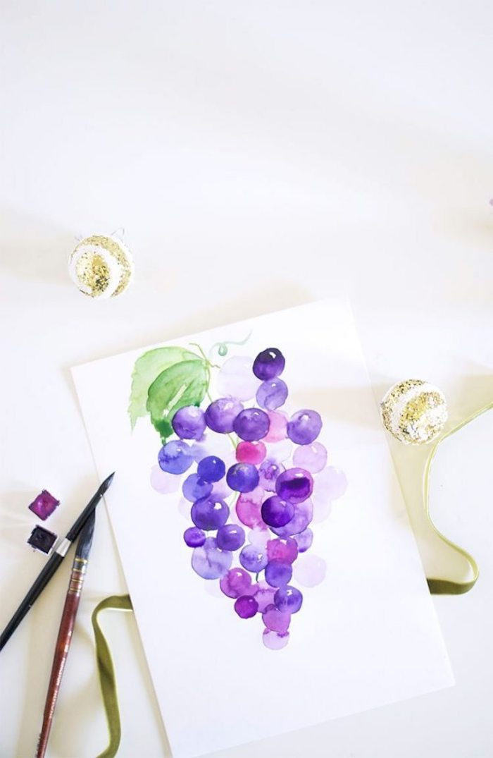 drawing of grapes, turn photo into line drawing online free, shades of blue, shades of purple, white background