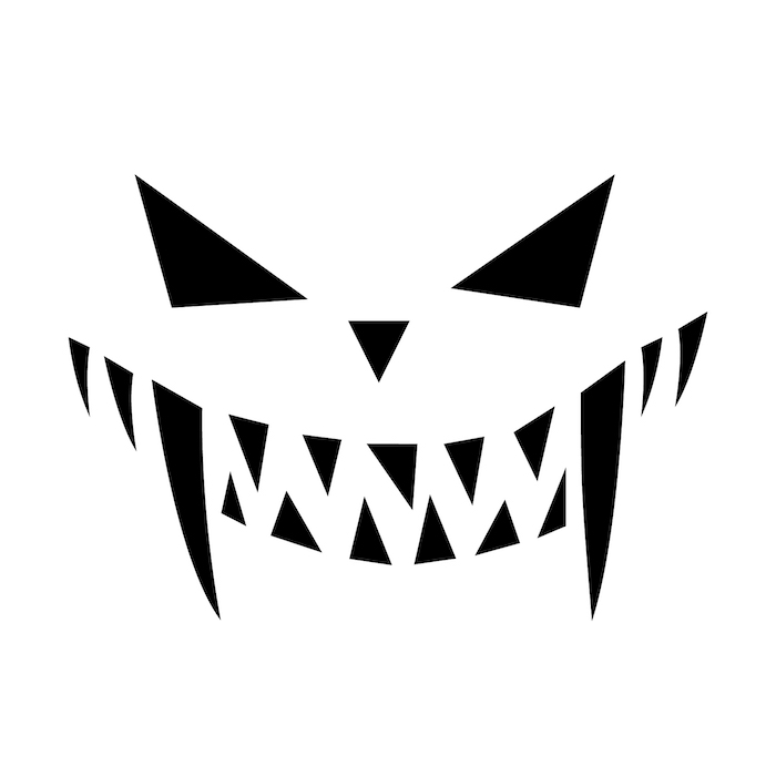 diy tutorial, jack o lantern ideas, black and white sketch, stencil template