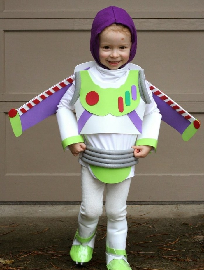 toy story inspired, funny kids costumes, little kid, dressed as buzz lightyear