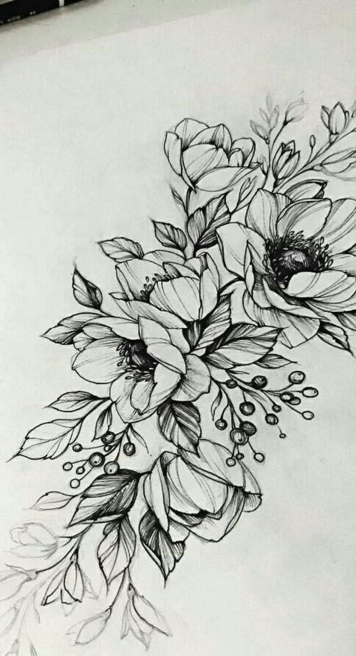1001 + ideas and tutorials for easy flowers to draw + pictures