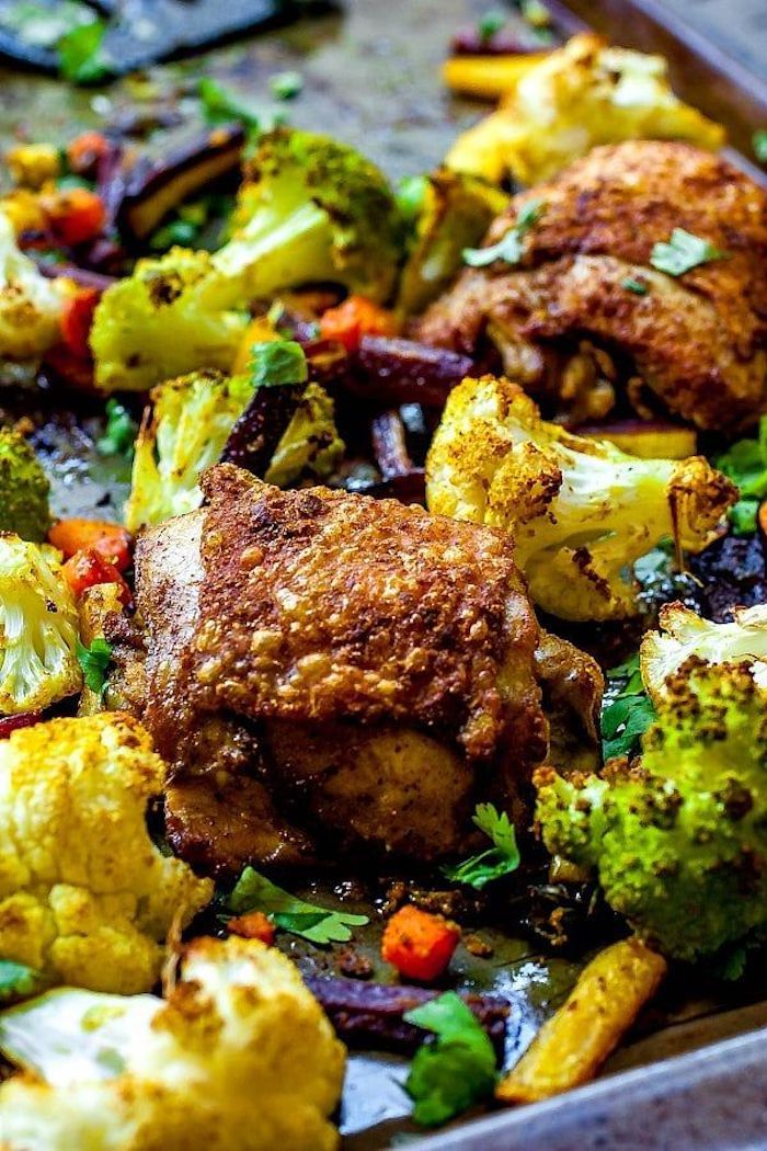 weight loss meal plan, chicken with vegetables, cauliflower and broccoli, carrots and cabbage