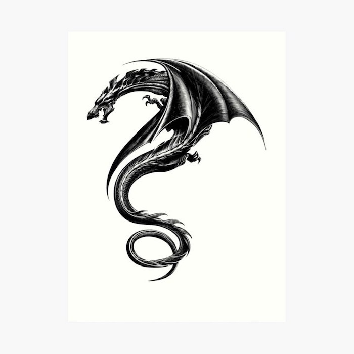 the girl with the dragon tattoo, dragon arm tattoo, black and white pencil sketch, white background
