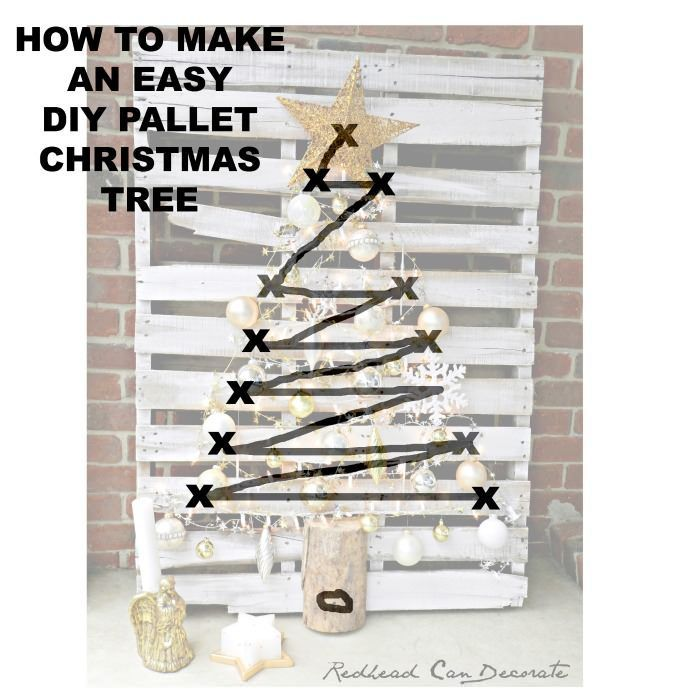 how to make and easy diy pallet christmas tree, using lights and silver ornaments, christmas tree decorating ideas