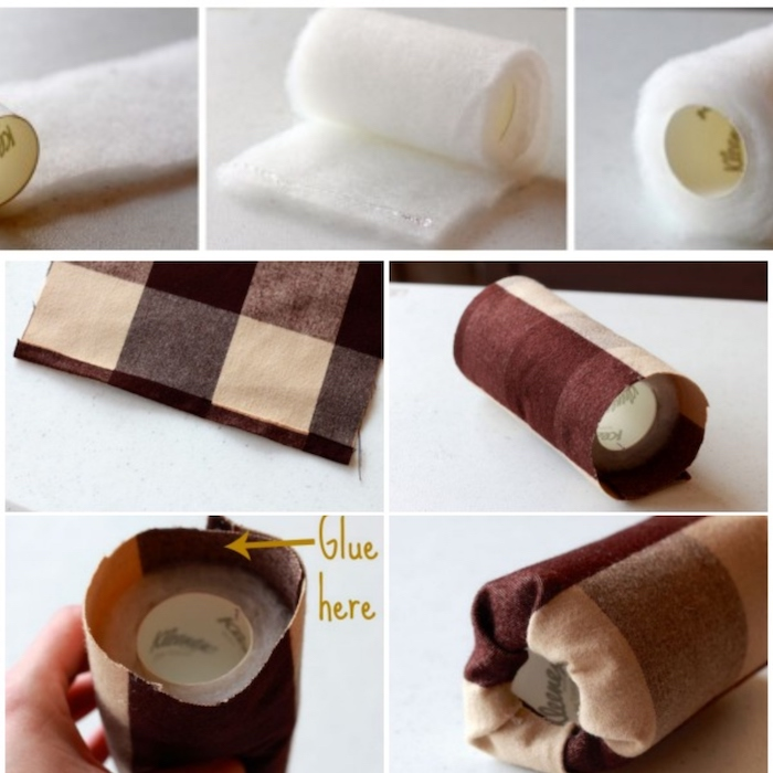 photo collage of step by step diy tutorial, how to make a watch holder, gift ideas for boyfriend