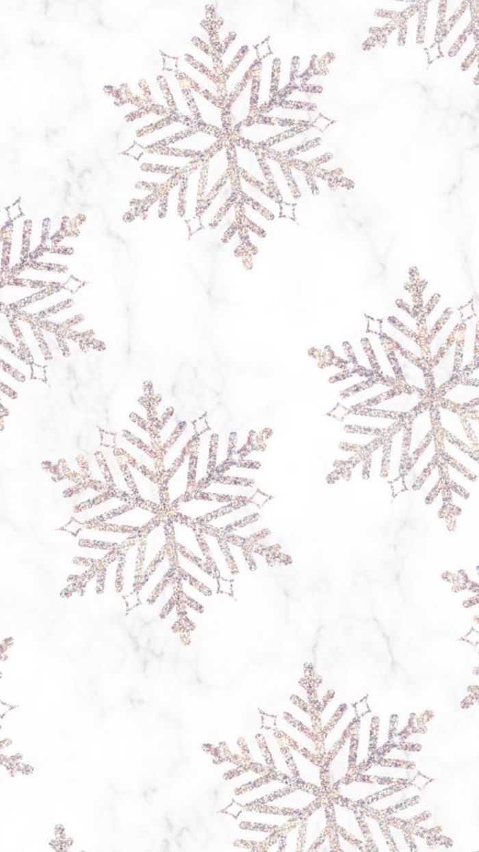 rose gold snowflakes, drawn on marble background, cool computer backgrounds