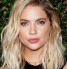 blonde hair balayage hair color for dark hair ashley benson wearing black dress