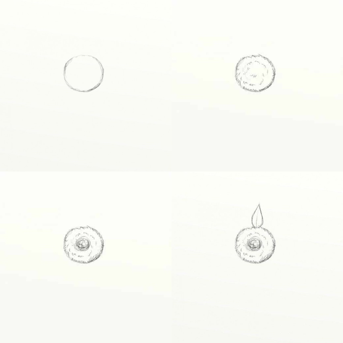 how to draw a sunflower, step by step diy tutorial, photo collage, cool easy drawings, pencil sketch on white background