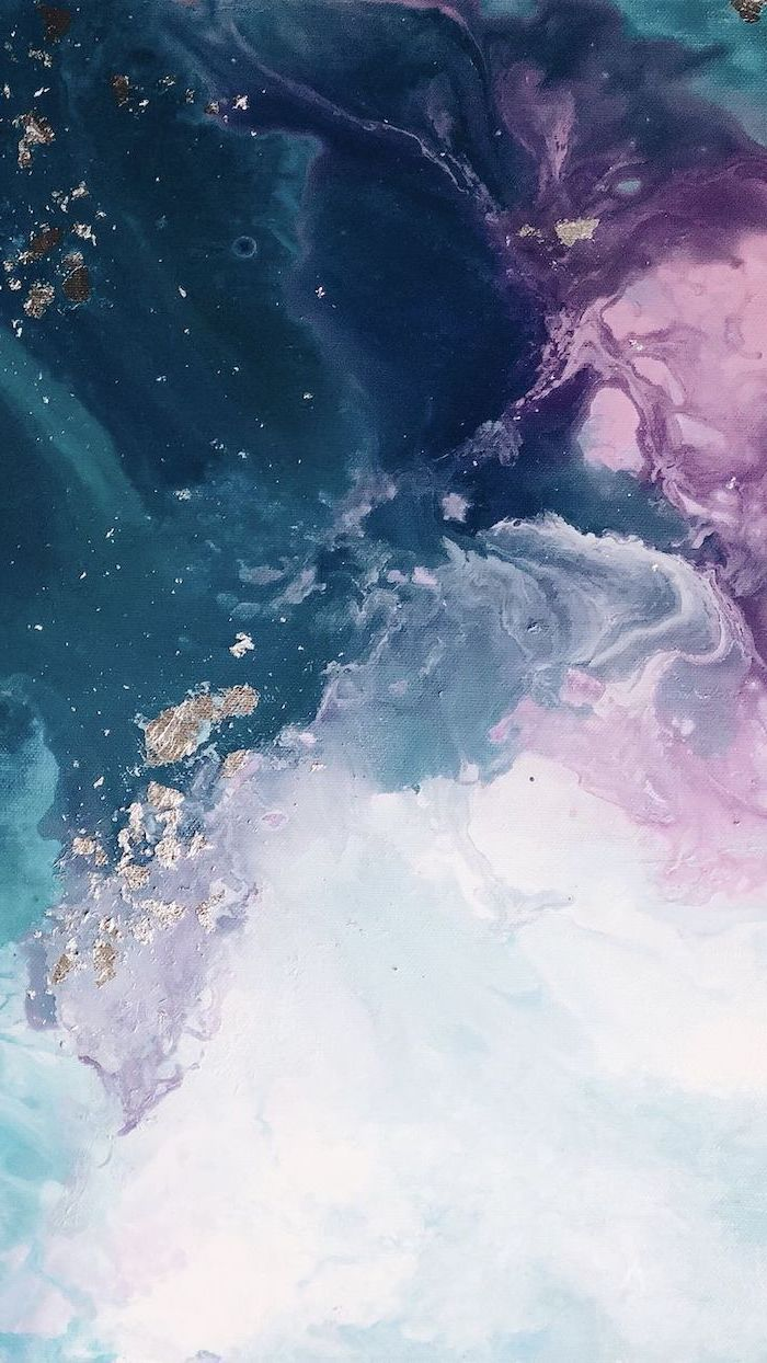 blue pink purple white grey and gold marble, aesthetic iphone wallpaper, colors intertwining