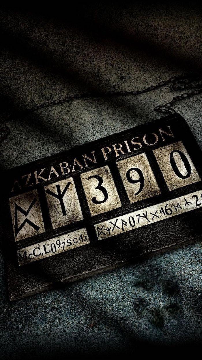 azkaban prison, prisoner number tag, hogwarts wallpaper, dark aesthetic