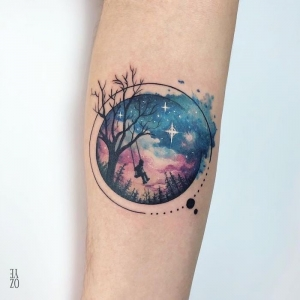 60 ideas for a gorgeous galaxy tattoo you will definitely love