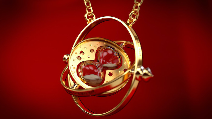 hermiones gold time turner harry potter iphone wallpaper red background