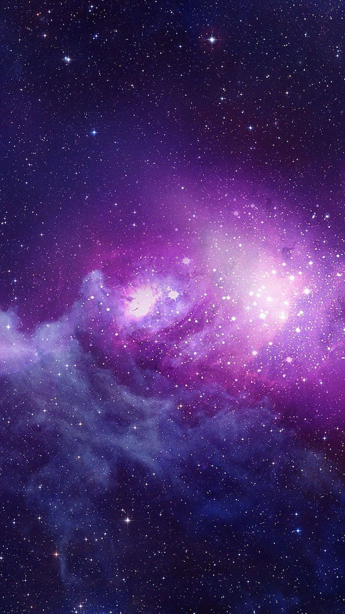 sky filled with stars, galaxy wallpaper 4k, galaxy in purple and pink colors