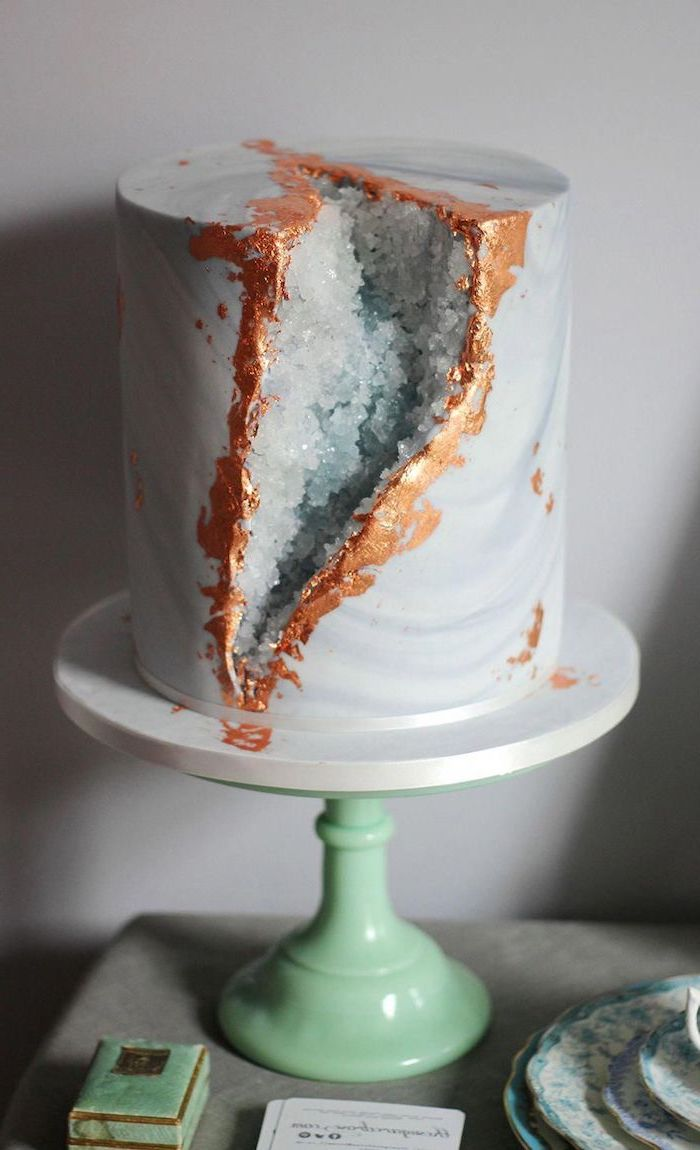 1001 Ideas For The Most Stylish Dessert The Geode Cake
