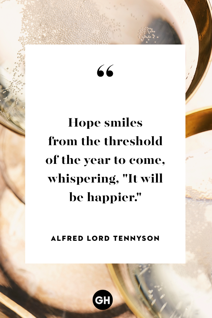 hope quotes, alfred lord tennyson quote, written with black letters, white background