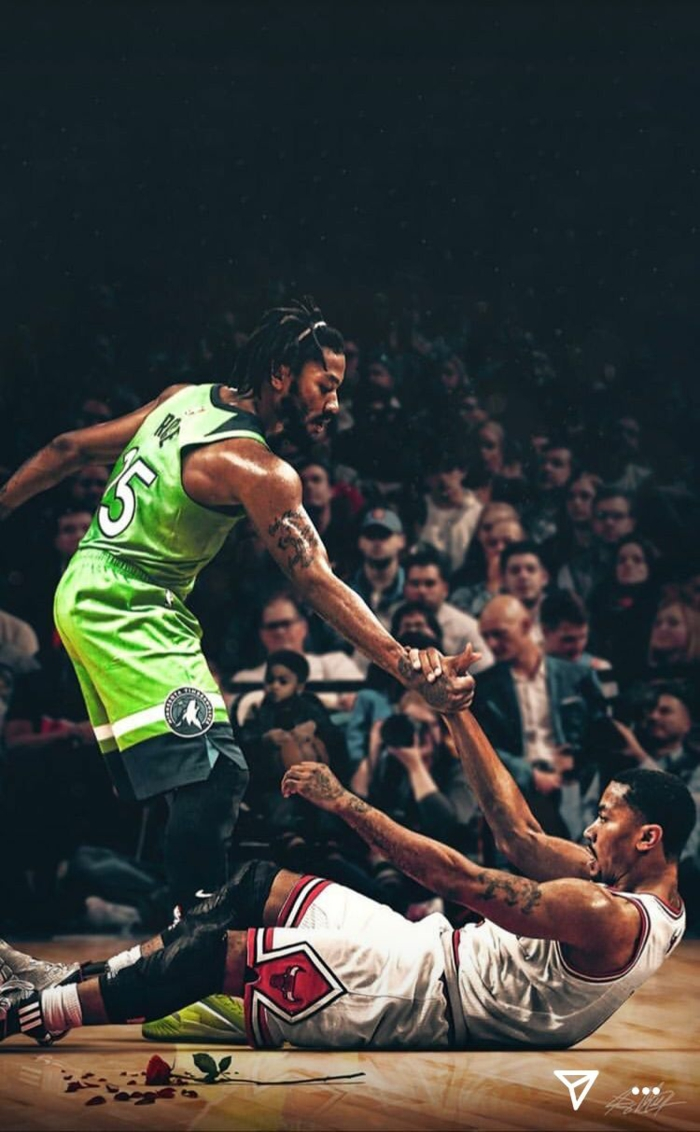 derrick rose picking himself up, basketball wallpaper iphone, minnesota timberwolves, chicago bulls