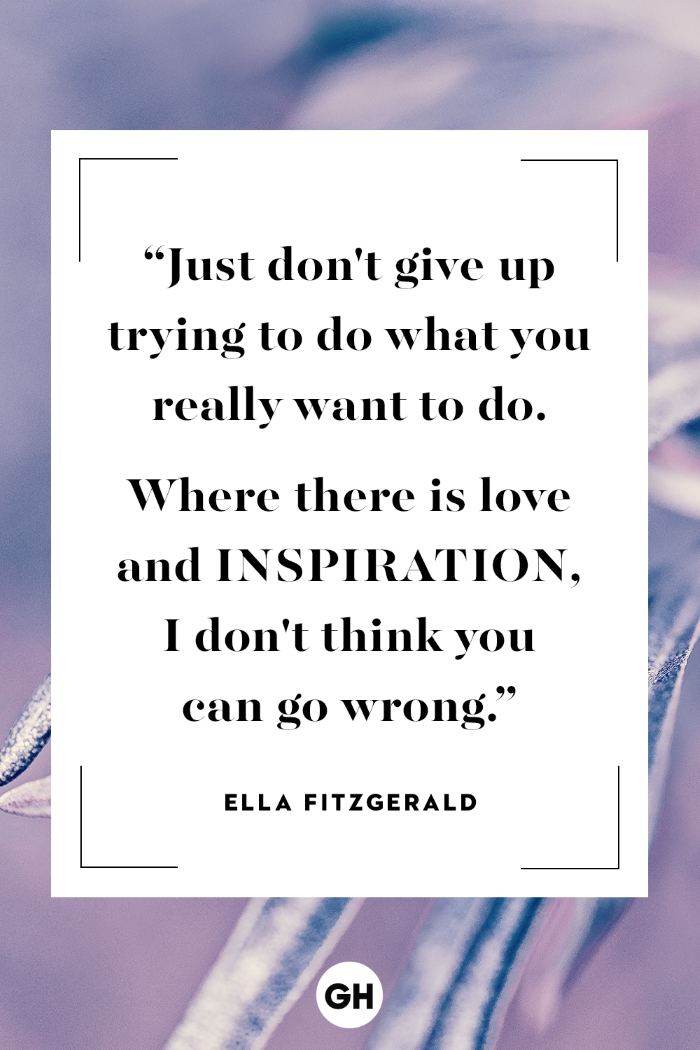 quote by ella fitzgerald, written with black letters, tough times quotes, white background