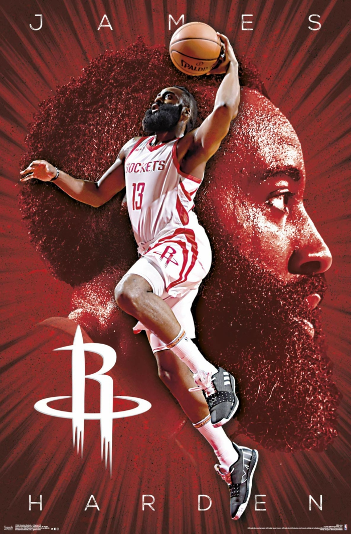 james harden, houston rockets, nba wallpaper iphone, wearing rockets uniform, dunking the ball