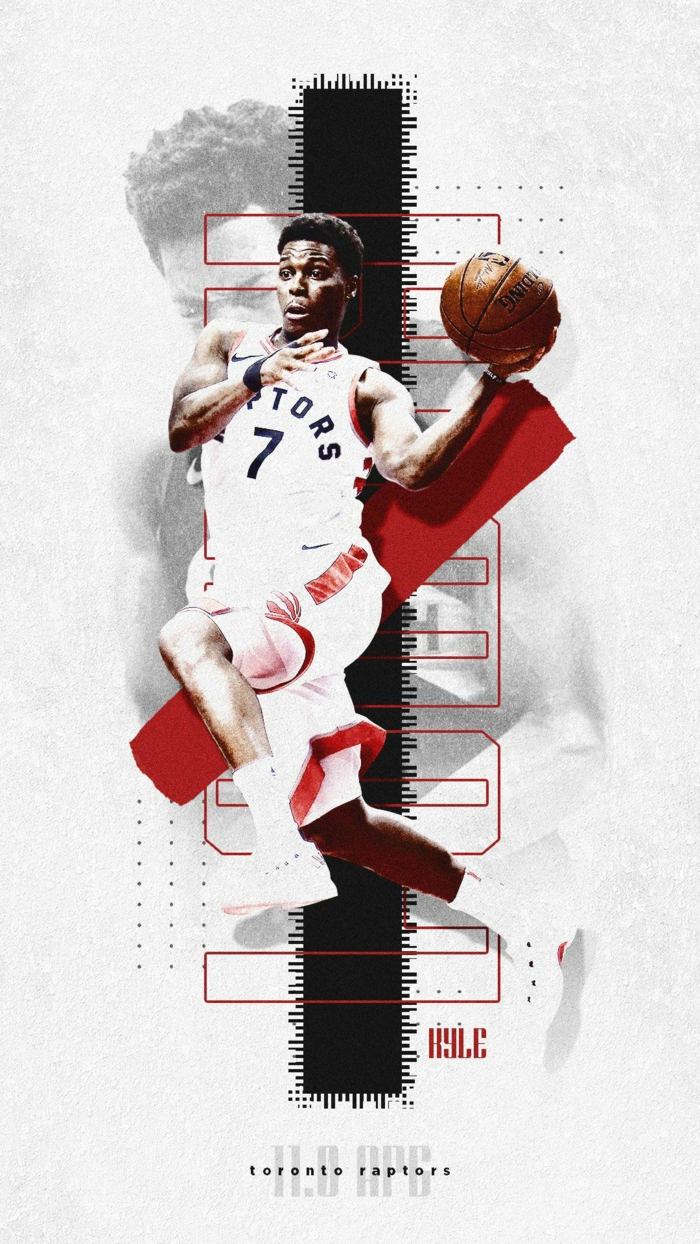 kyle lowry, photo edit, pictures of basketball players, wearing toronto raptors uniform, white background