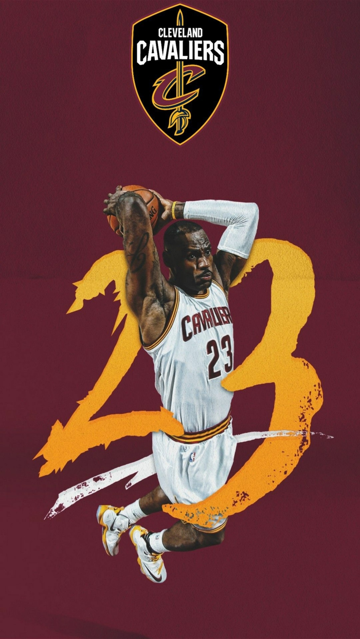 lebron james, wearing cleveland cavaliers logo, best basketball wallpapers, dunking the ball