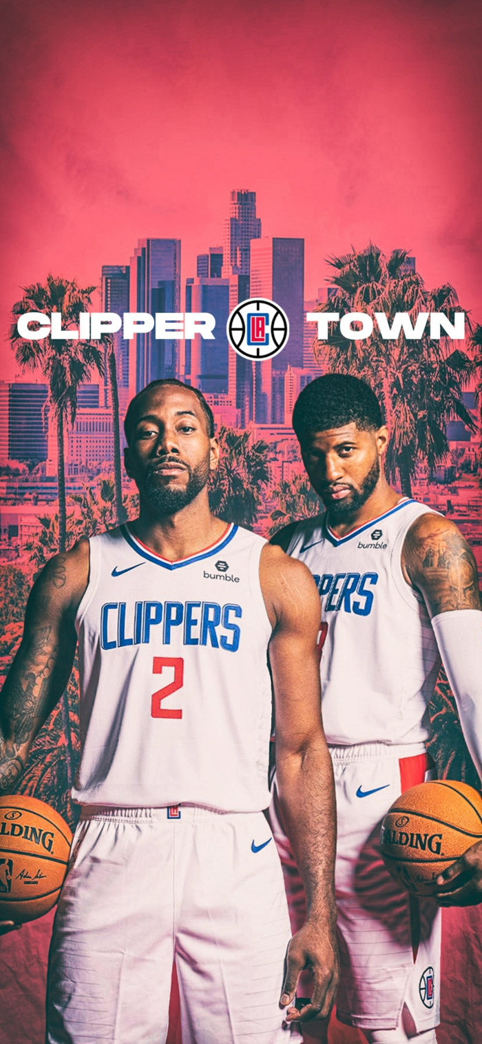 clipper town, los angeles clippers, wallpaper basketball, kawhi leonard and paul george