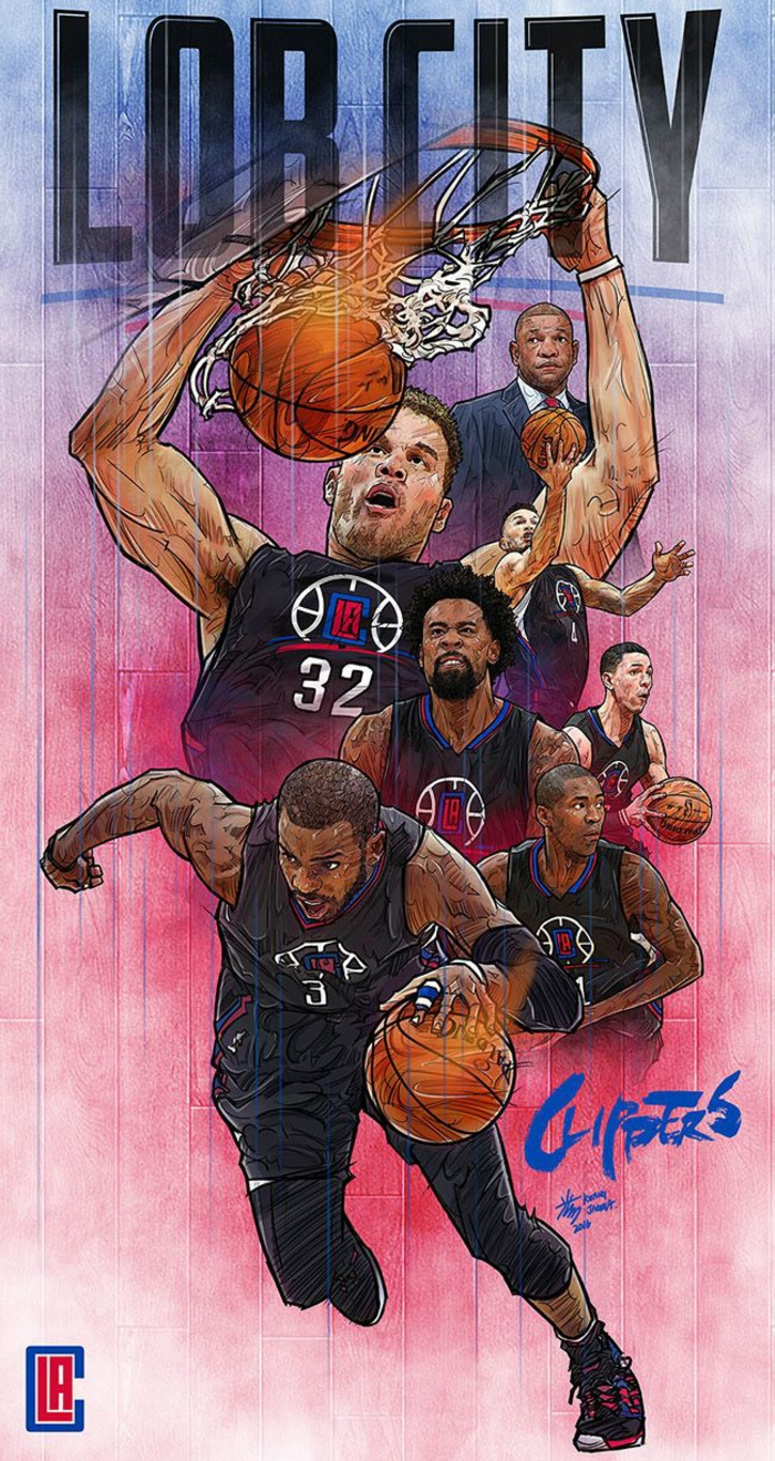 cool basketball wallpapers, los angeles clippers, lob city, blake griffin, chris paul, deandre jordan, doc rivers, jamal crawford
