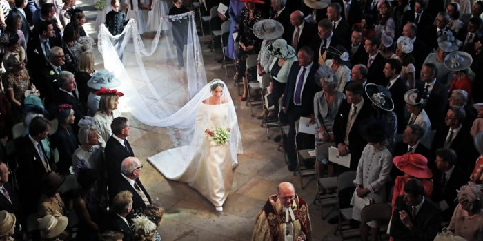 meghan markle walking down the aisle, wedding ceremony songs, photographed from above