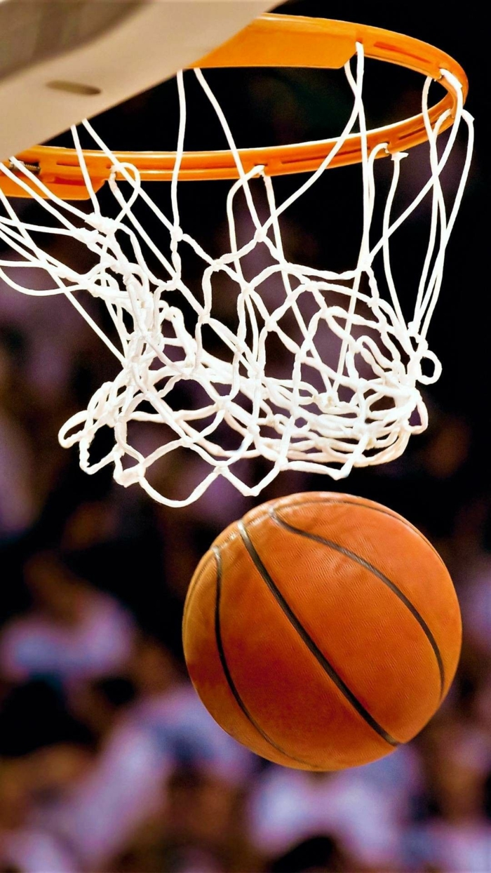 basketball ball, going through a basketball hoop, basketball wallpaper, close up photo
