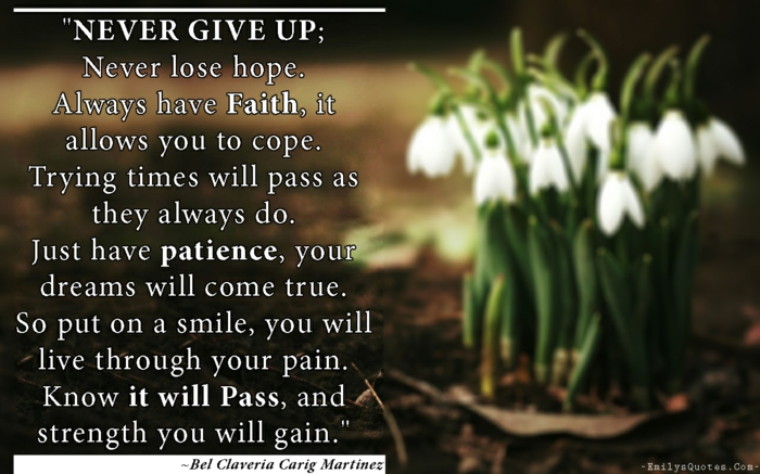 bel claveria carig martinez quote, quotes about getting through tough times, background photo of spring flowers