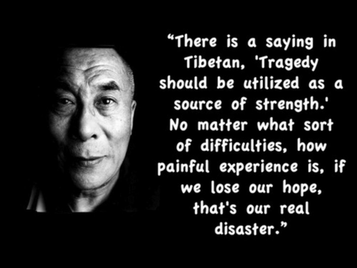 quote by dalai lama, quotes about strength and hope, written with white letters on black backgorund