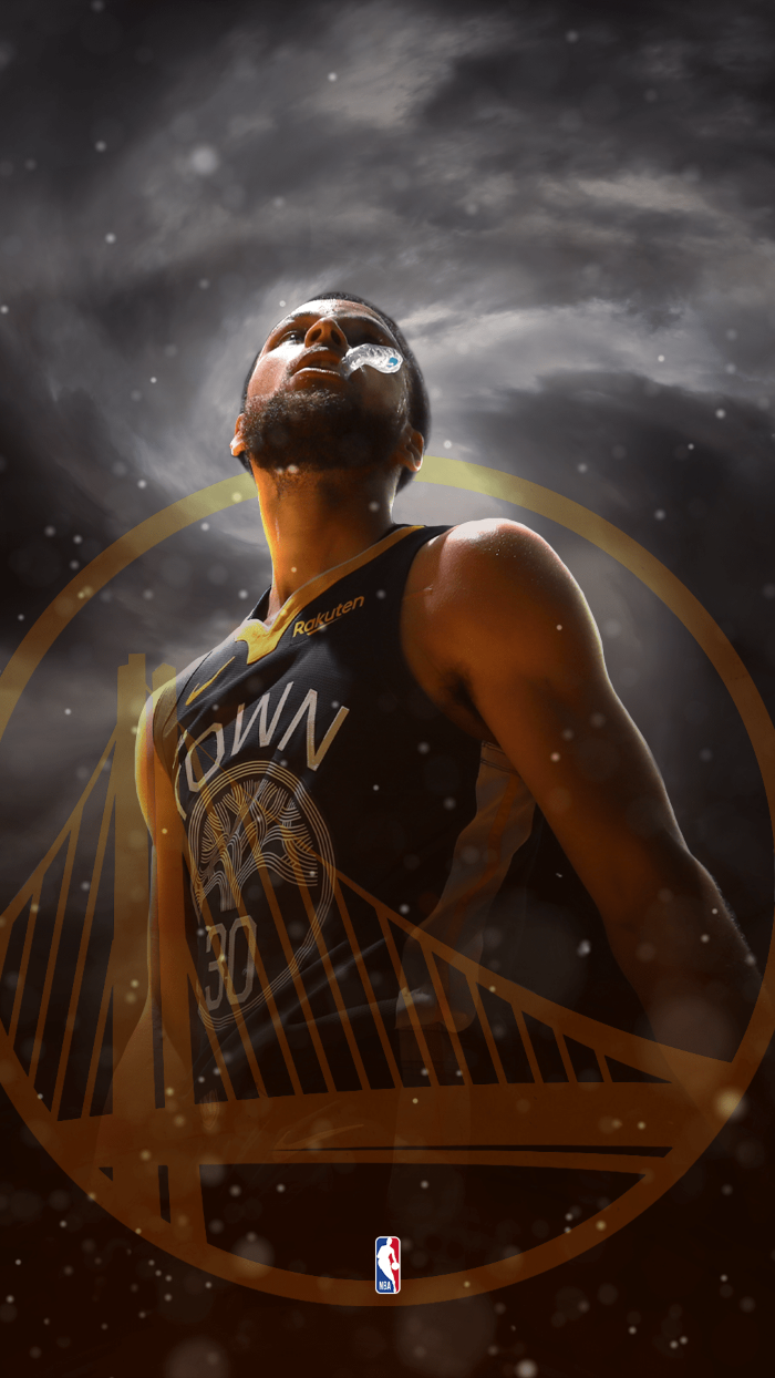 stephen curry, chewing on his mouthpiece, wearing golden state warriors uniform, cool basketball wallpapers