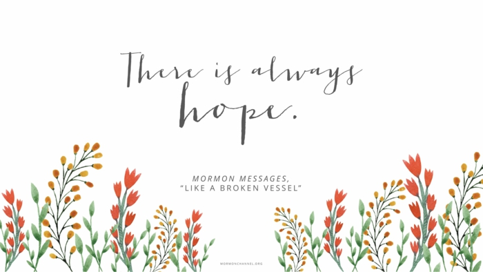there is always hoper, written with grey cursive letters, positive hopes quote, white background with flowers