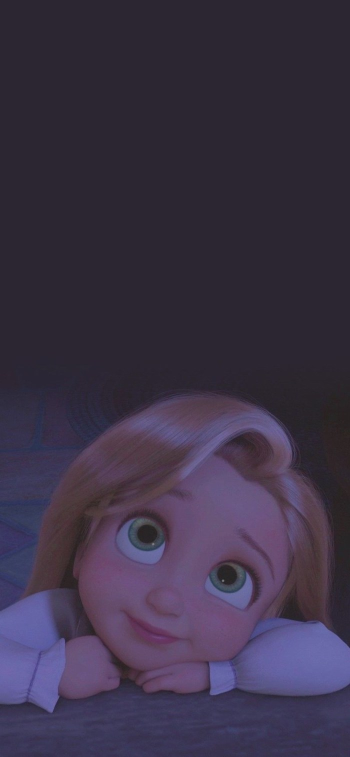 baby rapunzel looking up funny wallpapers for phones drawn with blonde hair and large green eyes
