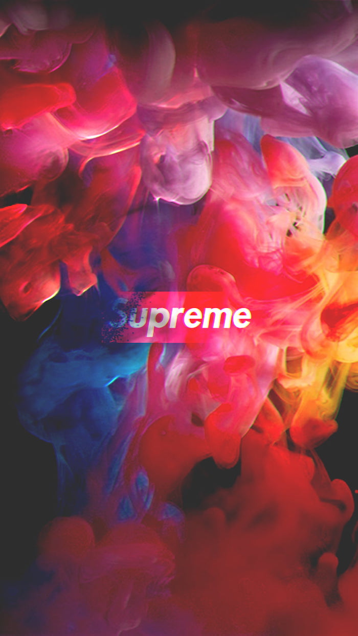 blue yellow orange pink purple smoke for background black supreme wallpaper supreme logo in red and white