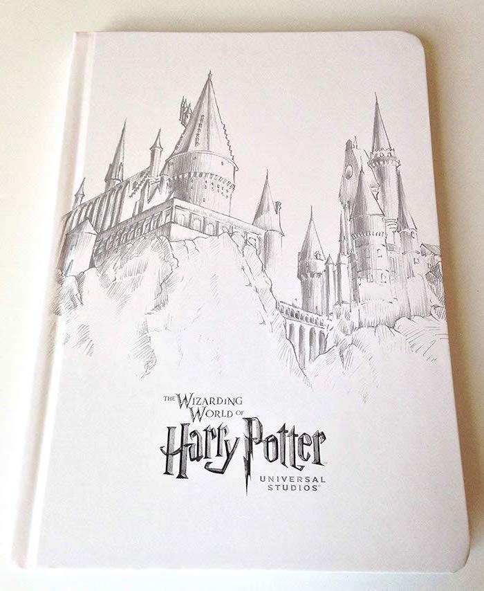drawing of hogwarts castle, how to draw harry potter, black and white pencil sketch, wizarding world, universal studios