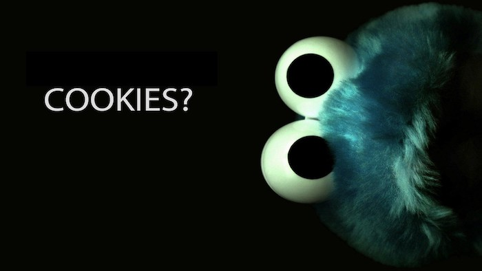 cookies and question mark written in white on black background cool desktop backgrounds cookie monster on the side