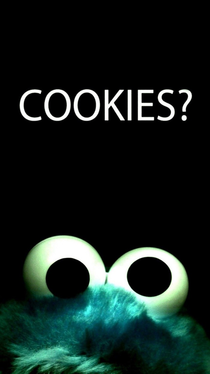 cookies with question mark written in white on black background cute pictures for wallpaper above a photo of cookie monster
