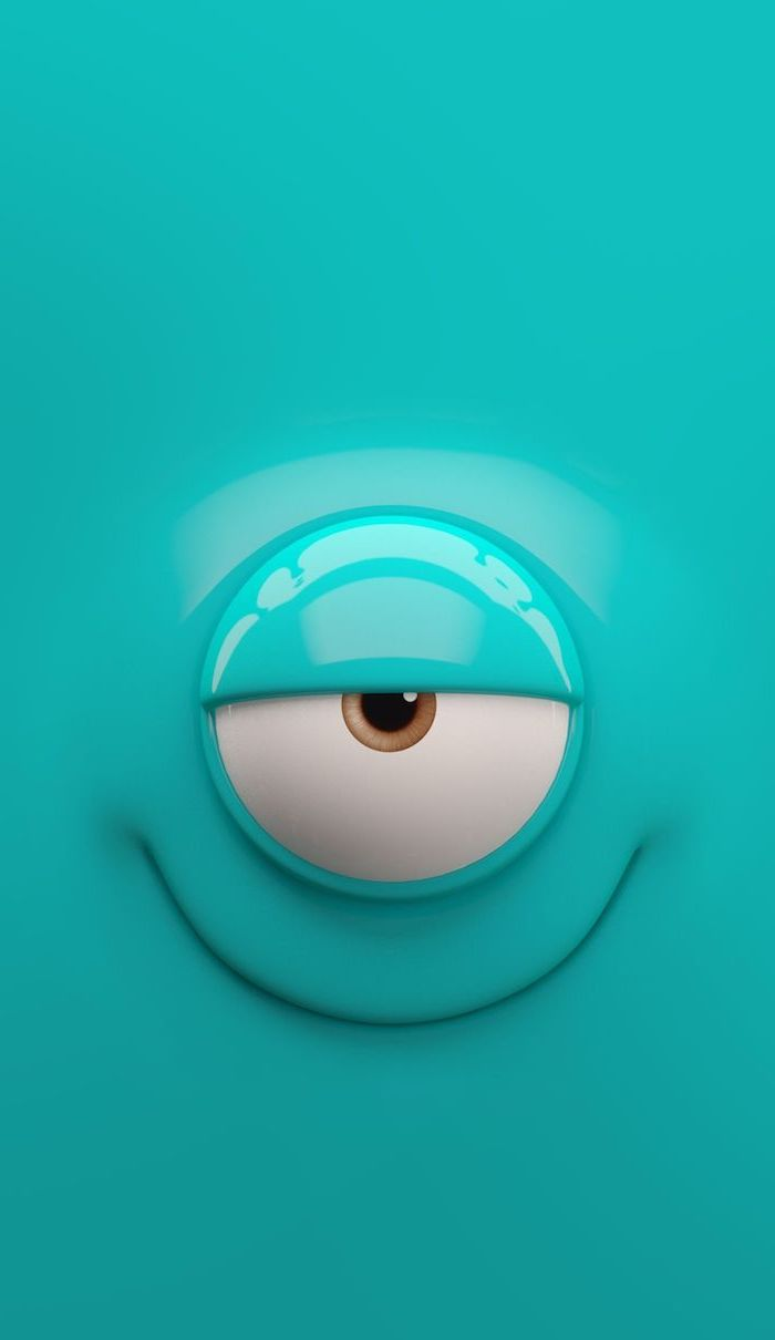 cool pc backgrounds one eyed cartoon creature with turquoise background