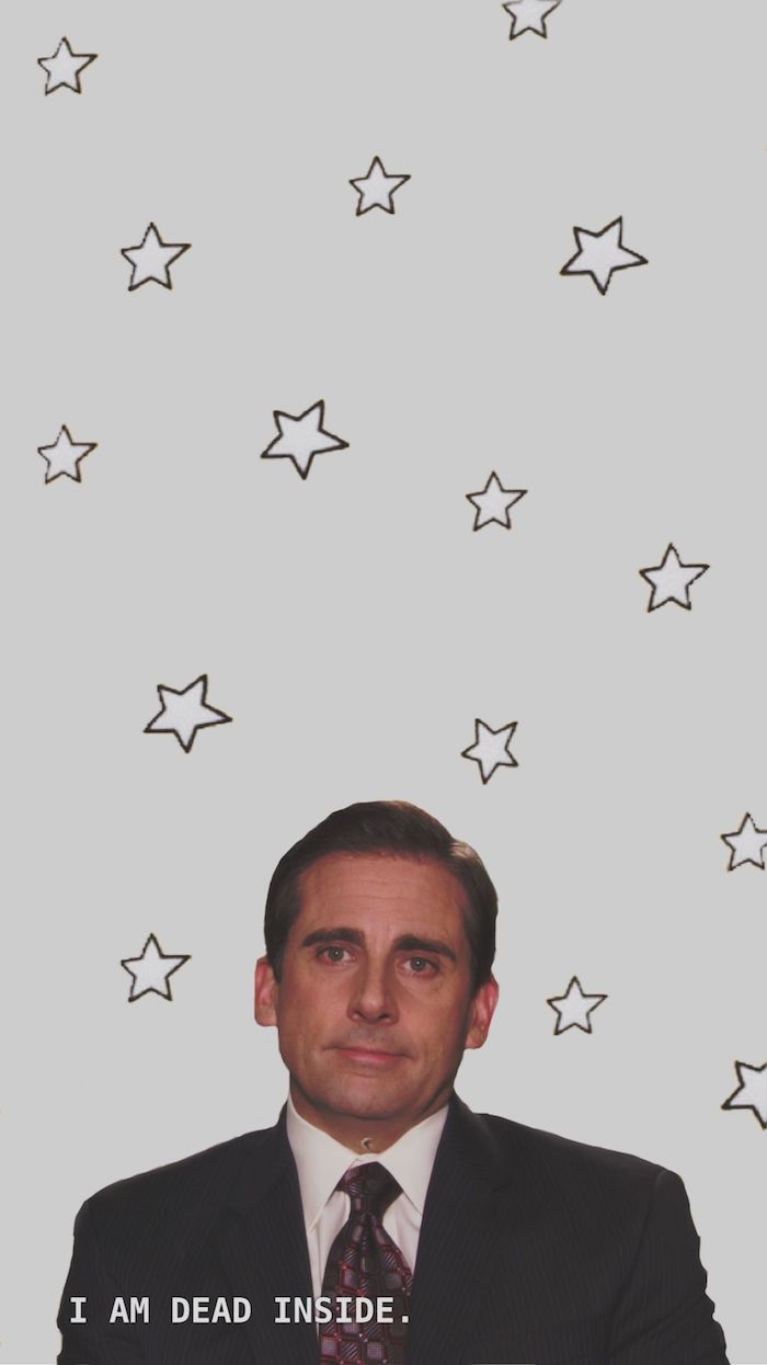 i am dead inside cool laptop wallpapers steve carrell as michael scott from the office grey background with stars