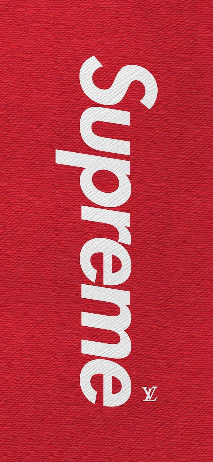 red background supreme logo written in white cool supreme backgrounds small louis vuitton logo in the corner