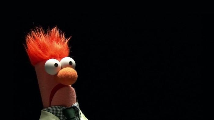 sesame street character puppet looking surprised funny desktop backgrounds black background
