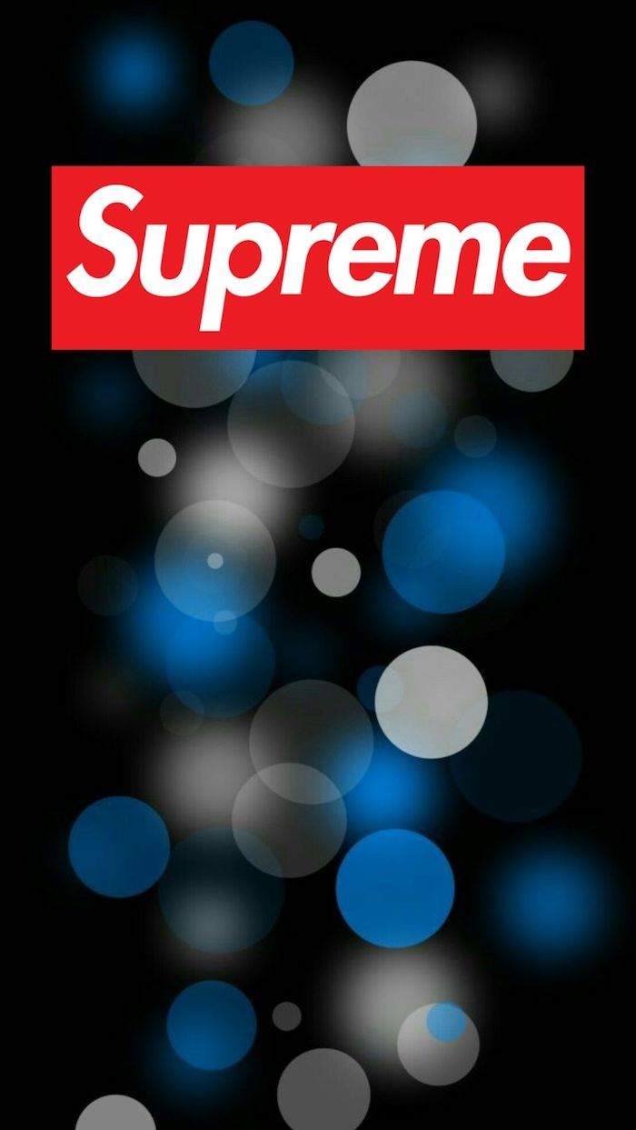supreme logo wallpaper red and white supreme logo black background with grey blue dots