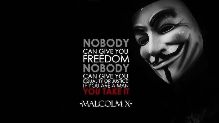 black background android cool wallpapers v for vendetta anonymous mask quote by malcolm x written in the middle