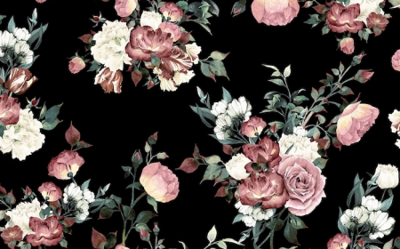 black background pretty flower backgrounds drawings of flower arrangements with pink white flowers