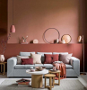 coffee tables made of wood what color goes with gray light and dark coral walls light grey sofa with throw pillows in shades of pink
