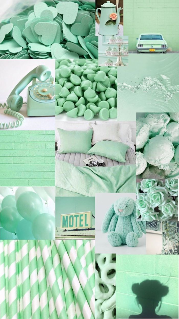 cute wallpapers for computer turquoise aesthetic photo collage with different photos in turquoise